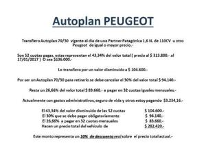 Peugeot Partner Patagonica 1.6Nafta 110cv VTC usado