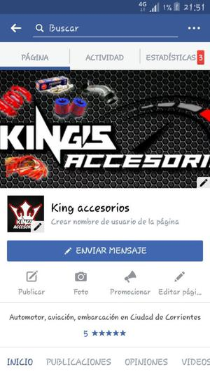 Venta S Accesorios Racing de Autos