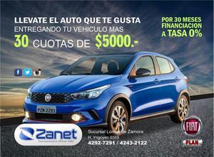 FIAT ARGO HGT 100 FINANCIADO O PLAN 84 CUOTAS