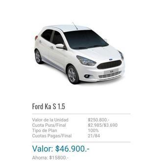 Plan Ford ka Adjudicado LISTO PARA RETIRAR