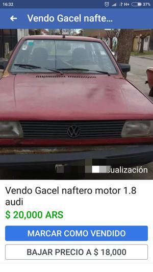 Vendo Gacel 18 Audi modelo 90 con todo los papeles