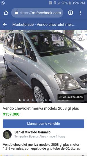 Chevrolet meriva gl pus 18 8v