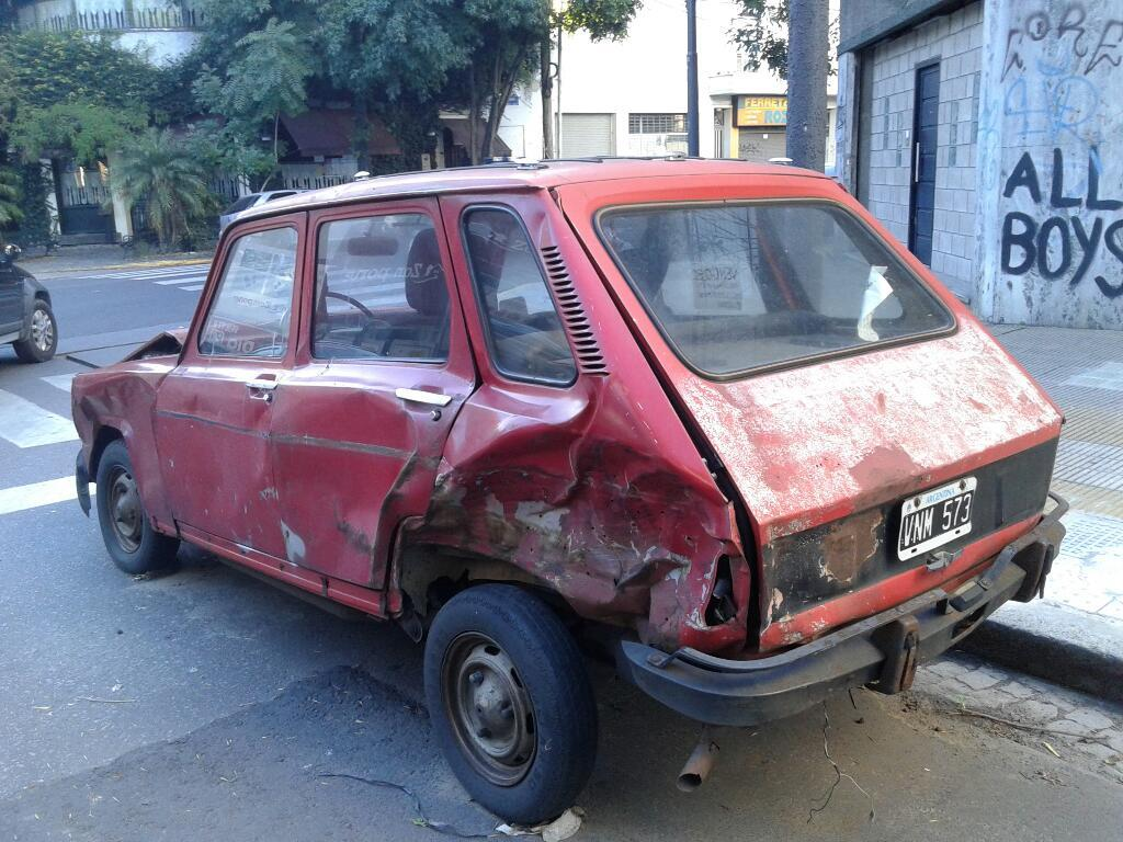Renault 6 Gtl  Chocado Reparable