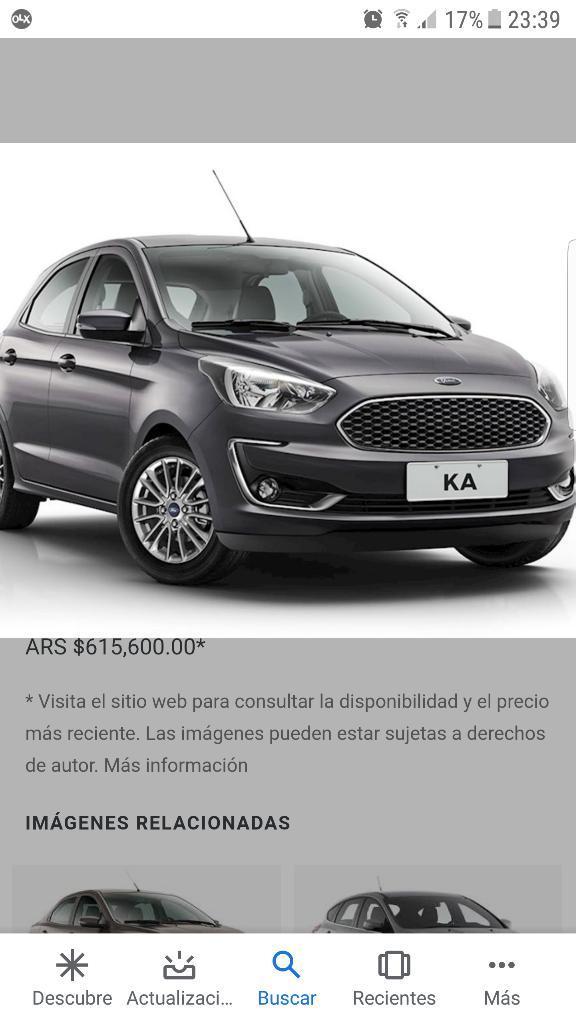 Vendo Plan Ford Ka Ovalo