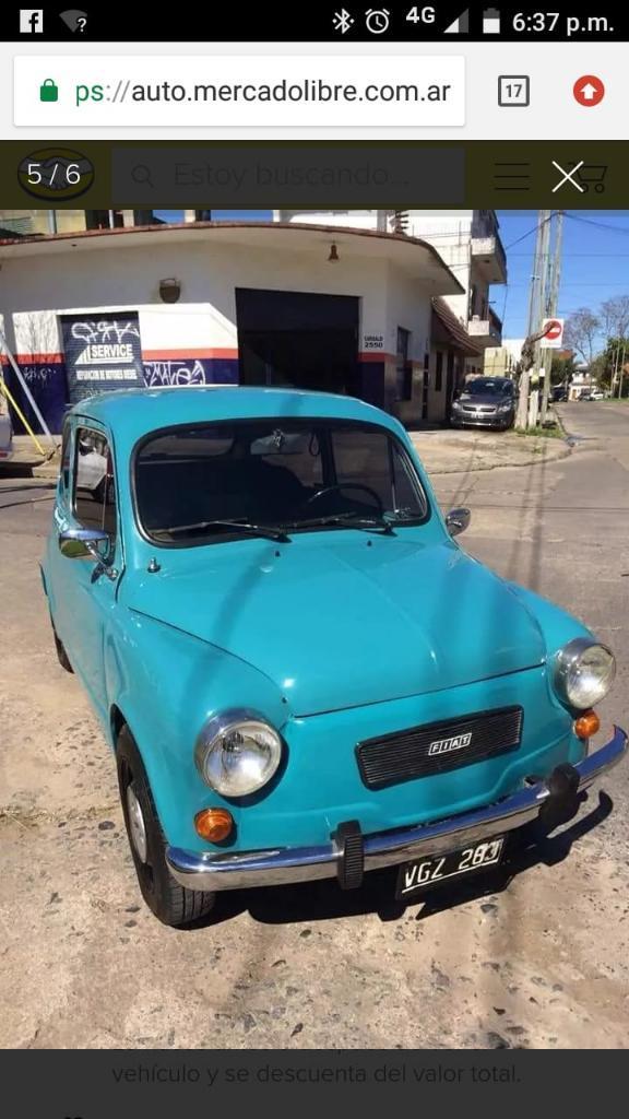 Vendo Fiat 600 Modelo 80