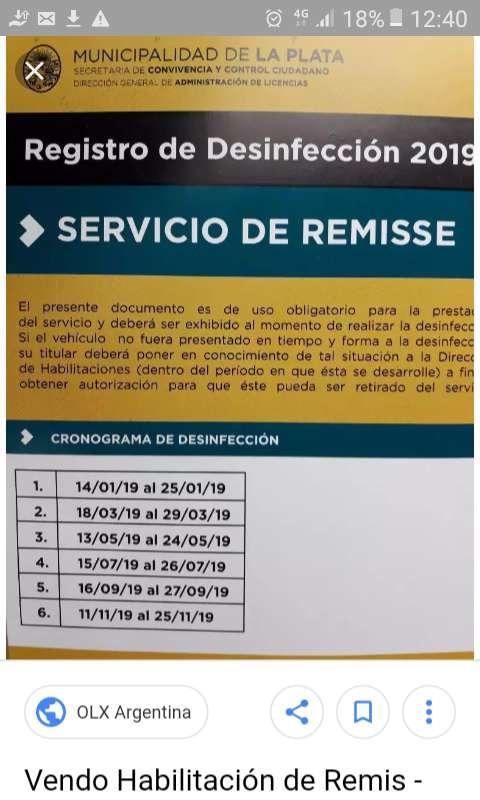 Remis habilitado La Plata
